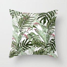 Leafy Tropical Throw Pillow