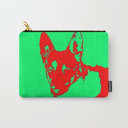 red Mitzi on green Carry-All Pouch