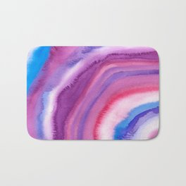 AGATE Inspired Watercolor Abstract 09 Bath Mat