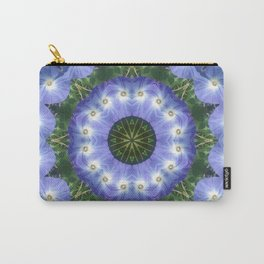 Heavenly Blue Morning Glory mandala 1058 Carry-All Pouch