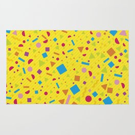Geometric Multicolor Background XII Rug
