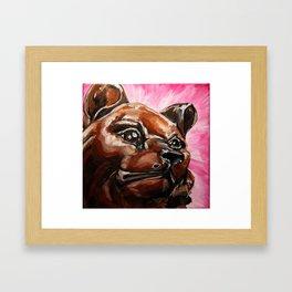 mary, bear of light Framed Art Print
