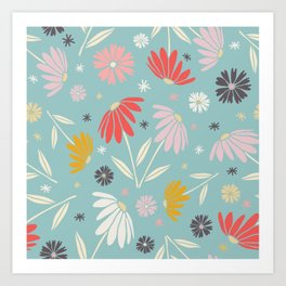 Garden Flowers Style J Art Print