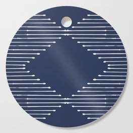Geo / Navy Cutting Board