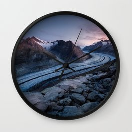 Sunrise On A Mountain Ridge Wall Clock