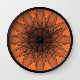 Powerful orange color Wall Clock