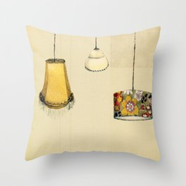 Retro Lampshades Throw Pillow