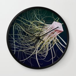 Poly Squid Wall Clock
