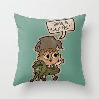 greg guillemin Throw Pillows featuring Greg. by Lockholmes