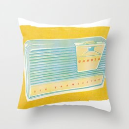 Radio II Throw Pillow