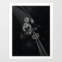 Intergalactic Pest Control Art Print