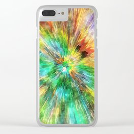 Watercolor Starburst Tie Dye Clear iPhone Case