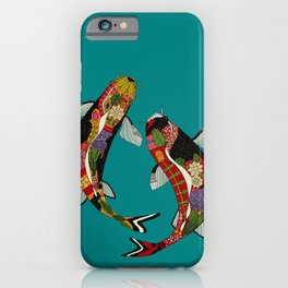 koi teal iPhone Case