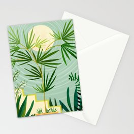 Summer Moon / Tropical Garden Illustration Stationery Cards