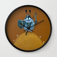 viking Wall Clocks featuring viking by Mirosedina