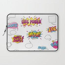 Girl Power Comic Style Laptop Sleeve
