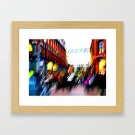 Grafton Street Blur Framed Art Print