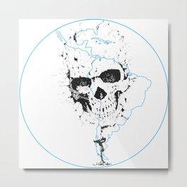 Calavera Proyecto (Skull Project) Metal Print