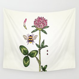 aromatic red clover Wall Tapestry