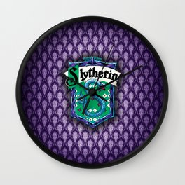 Slytherin Pattern Wall Clock