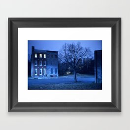 blue Baltimore Framed Art Print