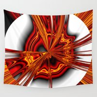 physics Wall Tapestries featuring hot metal eruption by donphil