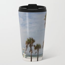 Clearwater Beach In Wintertime Travel Mug