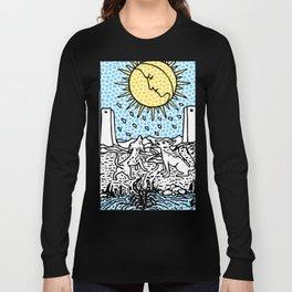 Modern Tarot 18 - The Moon Long Sleeve T-shirt