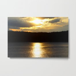 Sunset at Concord's Walden Pond 7 Metal Print