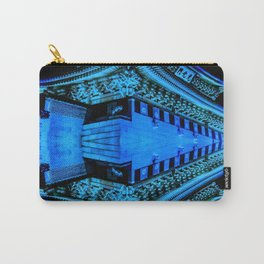 Abstract Blue and Black Art, Gyeongbokgung Palace, Seoul, Korea, Oriental Carry-All Pouch