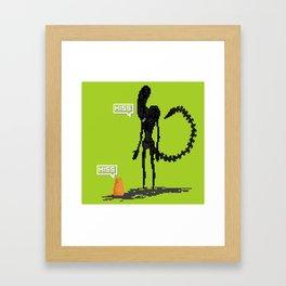 Alien vs Jonesy Framed Art Print