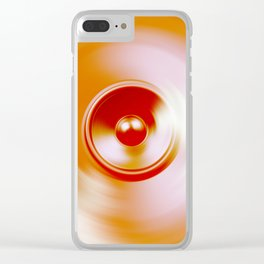 Spinning speaker Clear iPhone Case