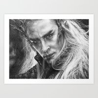 thranduil Art Prints featuring Thranduil by Lisa Buchfink