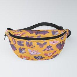 Bat - yellow Fanny Pack