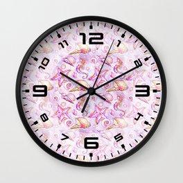 Pink Seahorses #2 Wall Clock