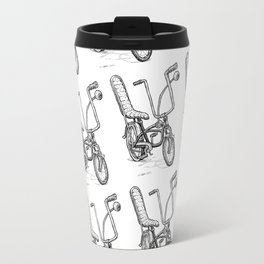 Cartoon Retro Mod Stingray Eyeball Shifter Muscle Bike Bicycle Travel Mug