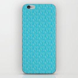 Blue Zeba Animal Print Pattern iPhone Skin
