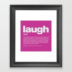 definition LLL - Laugh 9 Framed Art Print
