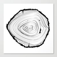 tree rings Canvas Prints featuring Tree Rings by brittcorry