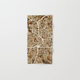 Atlanta Georgia City Map Hand & Bath Towel