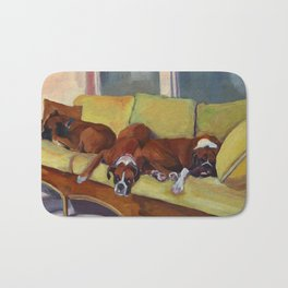 Boxer Dog Siesta Bath Mat