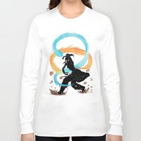 legend of korra Long Sleeve T-shirts featuring The Legend of Korra Stencil by Brietron Art