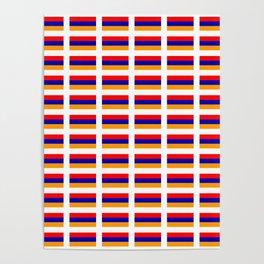 Flag of Armenia- Armenian,Հայաստան,Yerevan, Ararat Poster