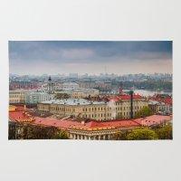 russia Area & Throw Rugs featuring Saint Petersburg , Russia by LudaNayvelt