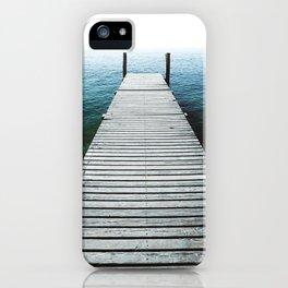 Fishing Lake Pier iPhone Case