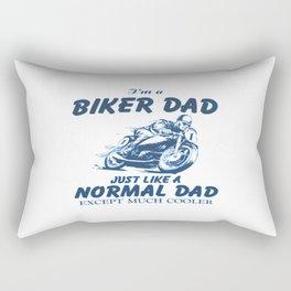 Biker DAD Rectangular Pillow