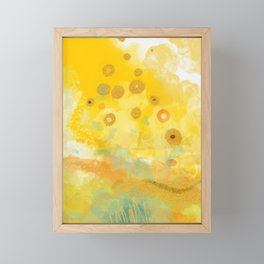 Abstract autumn with gold and warm light Framed Mini Art Print