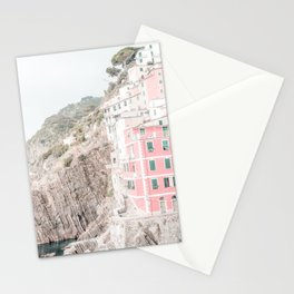 Positano, Italy Pink Travel Photography in hd Stationery Cards