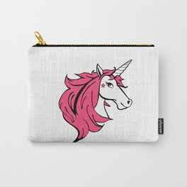 Colorful Cartoon Unicorn - Pink Carry-All Pouch