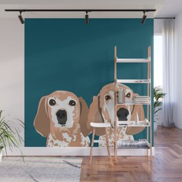 Molly and  Elwood Wall Mural